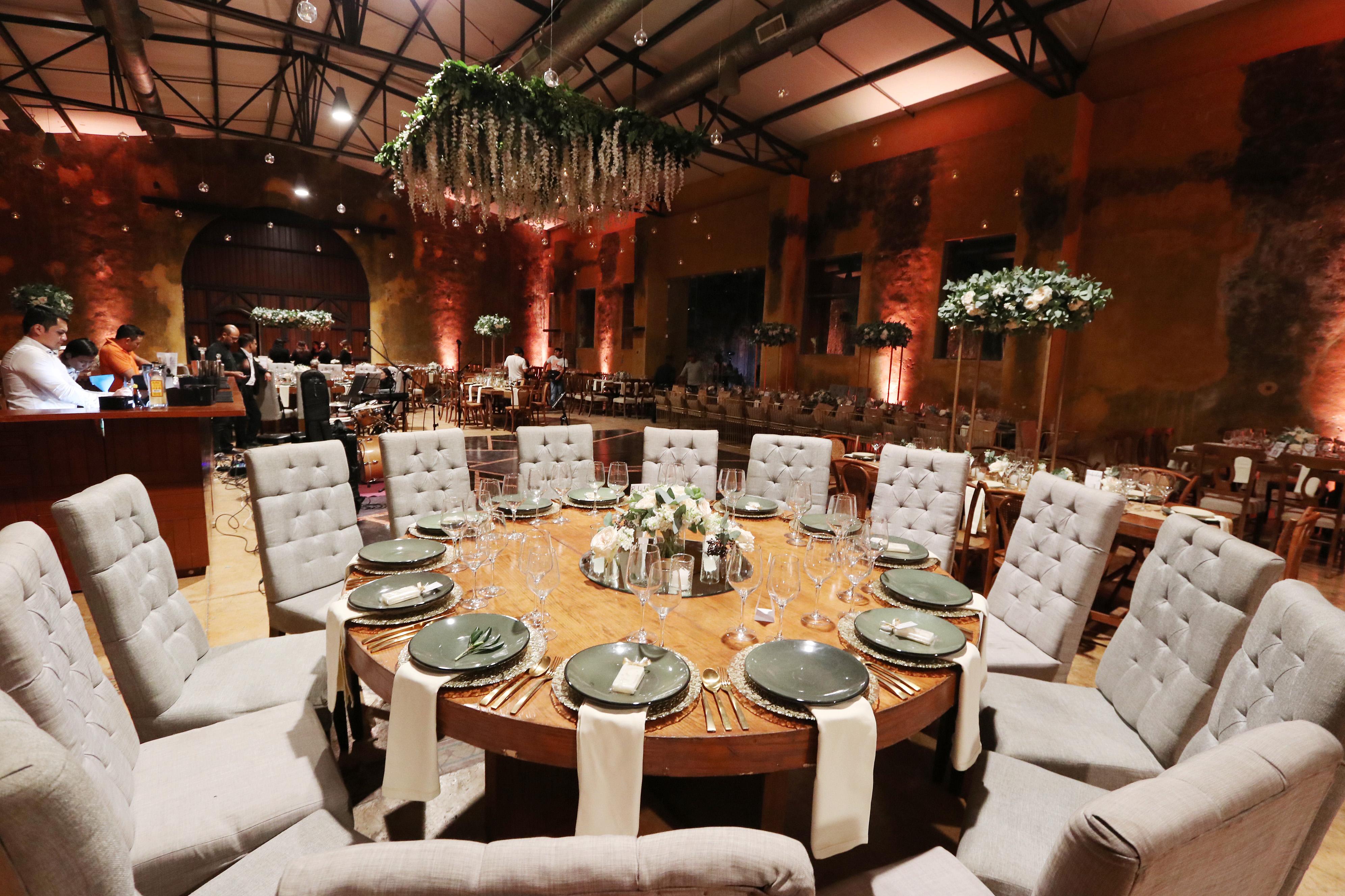 mesas redondas protocolo bodas