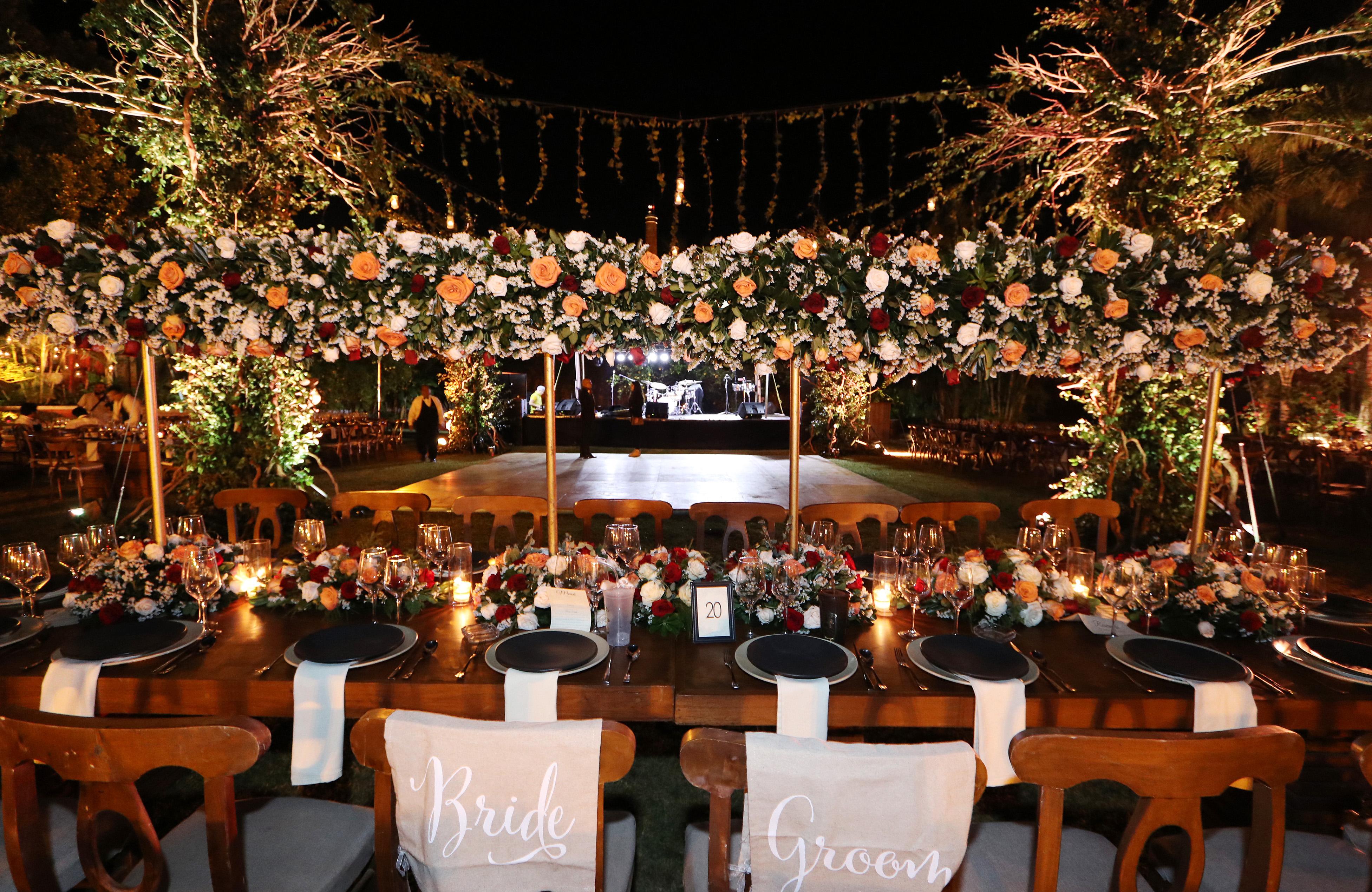 mesa presidencial protocolo boda