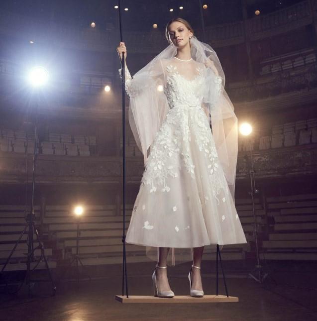 Vestido de novia midi 2020